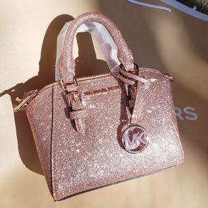 🌺NWT Michael Kors XS MINI Ciara XBODY rose gold
